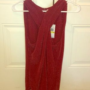 Michael Kors sparkly red cross front top size M